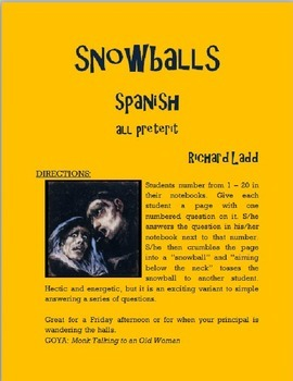 ALL Preterit Snowballs SPANISH