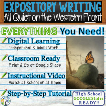 All Quiet on the Western Front - Text Dependent Analysis Expository Writing