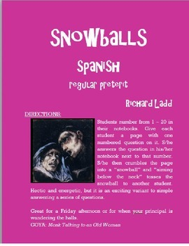 ALL Regular Preterit Snowballs SPANISH