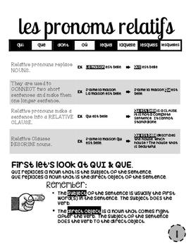 ALL Relative Pronouns (including ce qui, ce que, etc) expl
