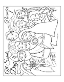 ALL SAINTS DAY COLORING, BUNDLE 3 PAGES, ALL SAINTS DAY AC