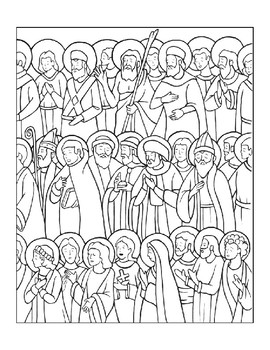 ALL SAINTS DAY COLORING, BUNDLE 3 PAGES, ALL SAINTS DAY ACTIVITIES
