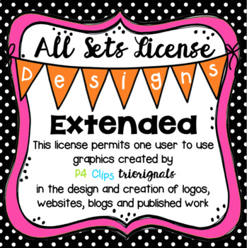 ALL SETS Designs EXTENDED License (P4 Clips Trioriginals Clip Art)