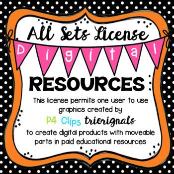 ALL SETS Digital Resources License (P4 Clips Trioriginals Clip Art)