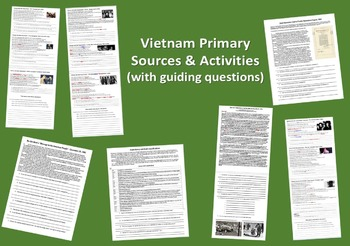 ALL SEVEN Vietnam Primary Sources w/ guiding Qs