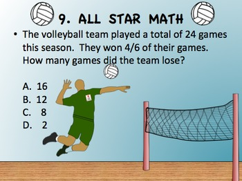 ALL STAR SPORTS MATH CHALLENGE