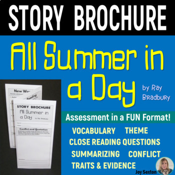 ALL SUMMER IN A DAY Foldable Story Brochure - Common Core 5-6-7-8