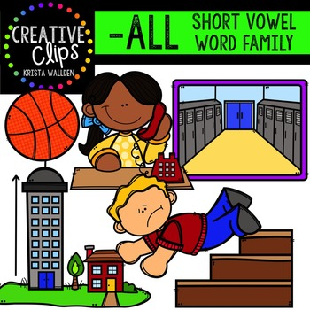 ALL Short A Word Family {Creative Clips Digital Clipart}
