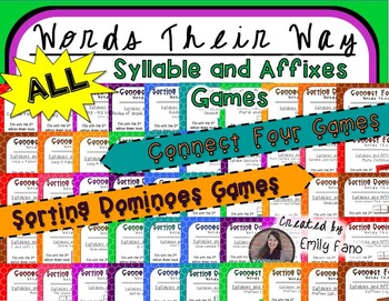 ALL Syllables and Affixes Games for Words Their Way