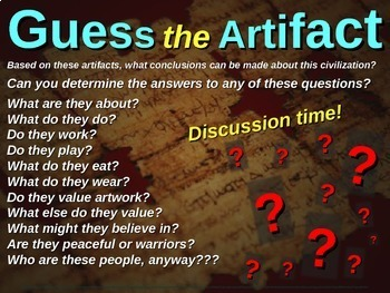 """ALL TEN """"Guess the artifact"""" games for 7th grade history (200 slides in all)"""