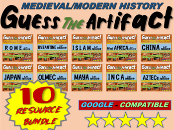 "ALL TEN ""Guess the artifact"" games for 7th grade history ("