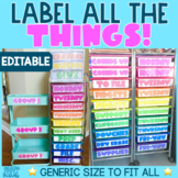 ALL THE THINGS Editable and PreMade Labels   Rainbow Cart, Sterilite Drawers