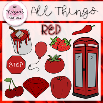 ALL THINGS RED ~ CLIP ART