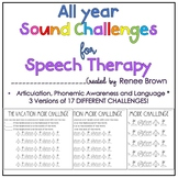 Articulation, Phonemic Awareness, Open-Ended: ALL YEAR CHA