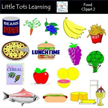 Food 2 Clip Art Mega Bundle (Food Groups Clip Art)
