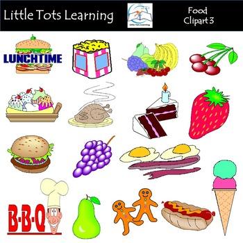 Food 3 Clip Art Mega Bundle (Food Groups Clip Art)