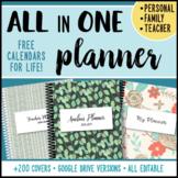 Editable Teacher Binder - ALL in ONE Planner - Teacher & P