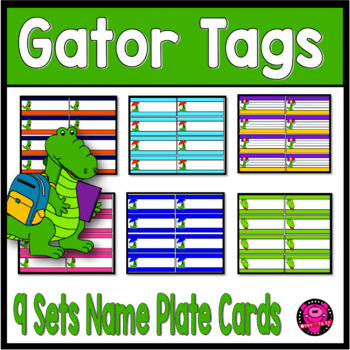 ALLIGATOR MINI NAME PLATES TAGS for SMALL SPACES