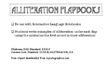 ALLITERATION FLAPBOOK