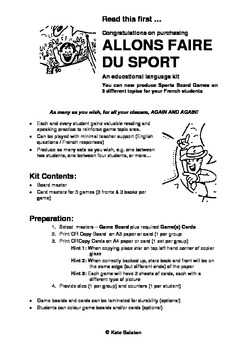 ALLONS FAIRE DU SPORT -Sports Board Game