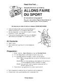ALLONS FAIRE DU SPORT -Sports Board Game