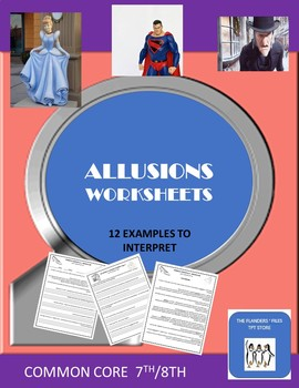 Allusions Worksheets With Answers Common Core 7th And 8th Tpt