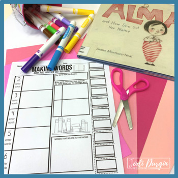 Alma and How She Got Her Name Activities and Read Aloud Lessons