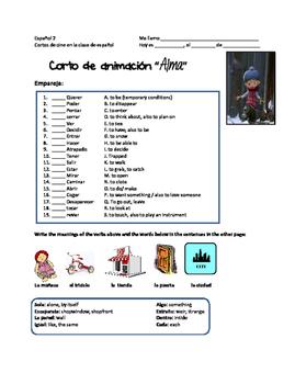 ALMA. CORTO DE ANIMACION EN LA CLASE DE ESPAÑOL. STEM-CHANGING VERBS