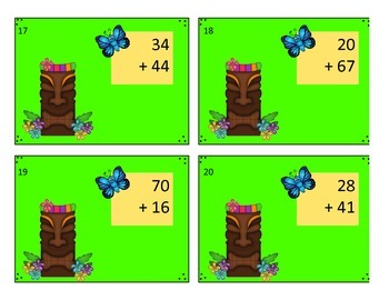 ALOHA Addition Differentiated Task Card Bundle