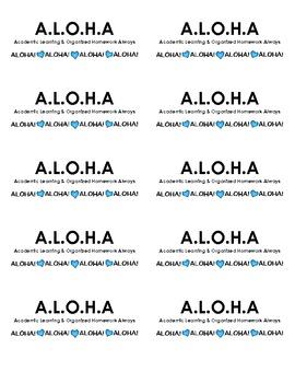 A.L.O.H.A. Folder Labels