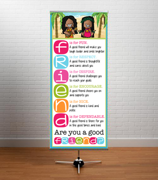 ALOHA theme - Classroom Decor: LARGE BANNER, Friend, Are You a Good Friend