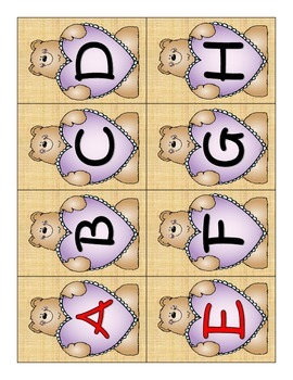 ALPHA-BEARS LETTER RECOGNITION CARDS