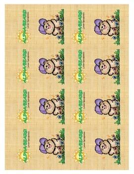 ALPHA-BEARS LETTER RECOGNITION CARDS