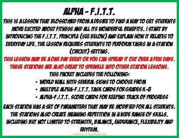 ALPHA-F.I.T.T. 4 LETTER SITE WORDS