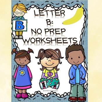 "Alphabet Letter of the Week ""Letter B"" (Alphabet Worksheets)"