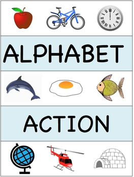 ALPHABET ACTION - games for learning to say and write letters of the alphabet