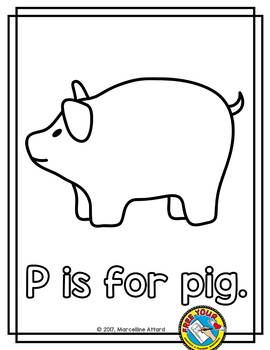 photo regarding Pig Printable called ALPHABET COLORING Site (P IS FOR PIG PRINTABLE)