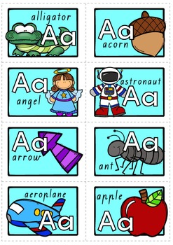 ALPHABET - ALL ABOUT 'A' - QLD, NSW, VIC, SA, TAS FONTS
