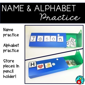 ALPHABET AND NAME PRACTICE PENCIL BOXES