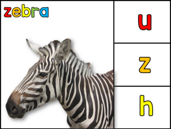 ALPHABET ANIMALS: CLIP CARDS