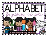 ALPHABET-BEGINNING SOUNDS-CUT&GLUE-NO PREPARATION ACTIVITIES