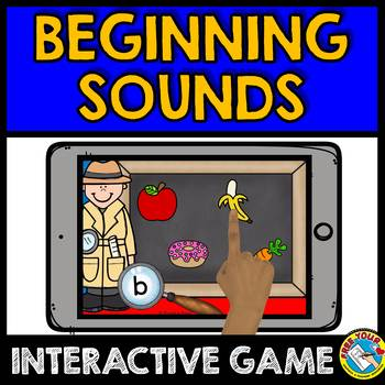 BOOM CARDS ALPHABET BEGINNING SOUNDS SELF-CHECKING GAME IPAD ACTIVITIES ALPHABET