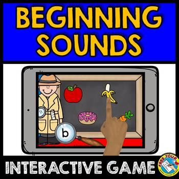 BOOM CARDS (KINDERGARTEN ALPHABET BEGINNING/ INITIAL SOUNDS GAME) IPAD  ACTIVITY