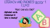 ALPHABET BLOCKS + WHAT IS MISSING + PHONICS SPOT IT