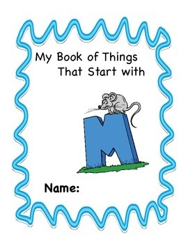ALPHABET BOOK BUNDLE 4 for LETTERS M, N, O, P Activities