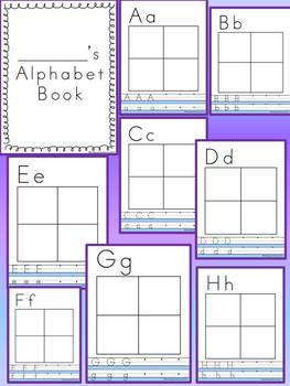 KINDERGARTEN/1ST NO PREP ALPHABET LETTER Writing Book / Wo
