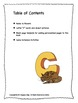 ALPHABET BOOK for LETTER C Letter-Sound-Object Recognition