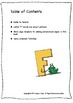 ALPHABET BOOK for LETTER F Letter-Sound-Object Recognition Activities