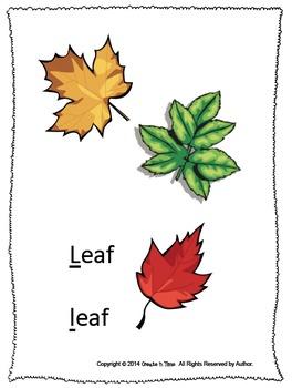 ALPHABET BOOK for LETTER L Letter-Sound-Object Recognition Activities