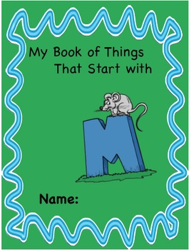 ALPHABET BOOK for LETTER M Letter-Sound-Object Recognition Activities